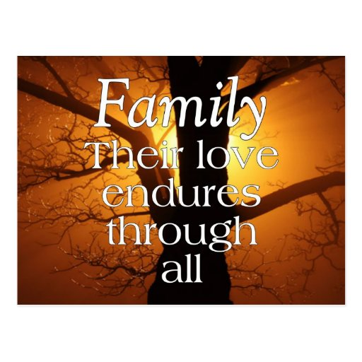 Family Love Post Cards