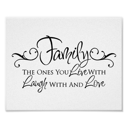 Family Quotes Love: Family & Love Quote Poster