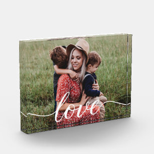 Family Love Script Personalized Photo