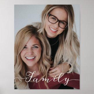Family Love Script Photo Poster
