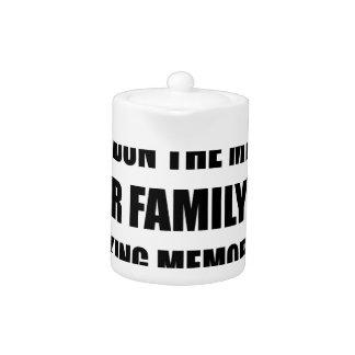 Family Making Memories Teapot
