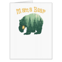Family Mama Bear Forest for Mom Mother Mommy Card