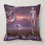 Family Matters Throw Pillow