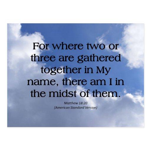 Family Matthew 18-20 Postcard