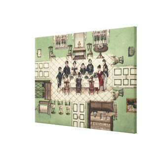 Family meal from a journal written by Carl Canvas Print