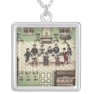 Family meal from a journal written by Carl Silver Plated Necklace