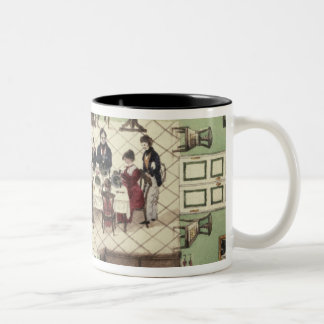 Family meal from a journal written by Carl Two-Tone Coffee Mug