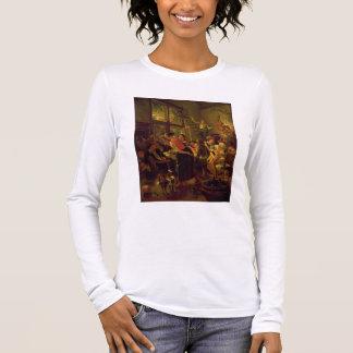 Family Meal (oil on canvas) Long Sleeve T-Shirt