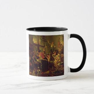 Family Meal (oil on canvas) Mug