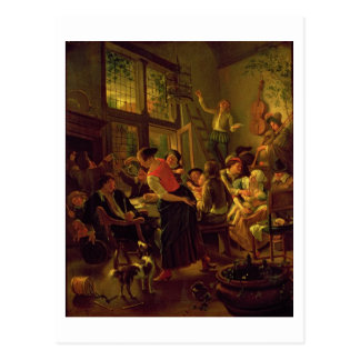 Family Meal (oil on canvas) Postcard