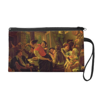 Family Meal (oil on canvas) Wristlet