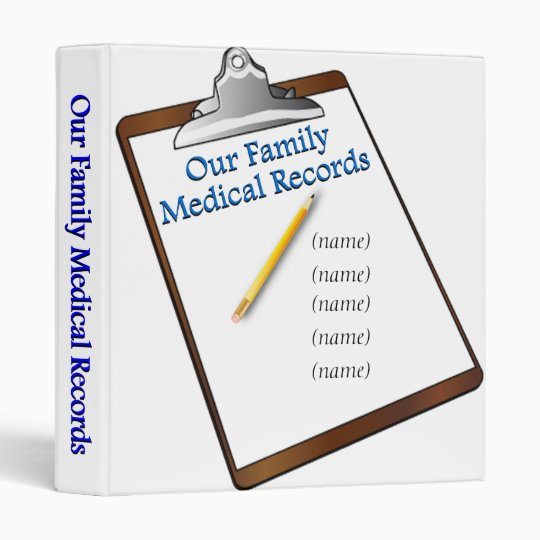 Family Medical Records Binder