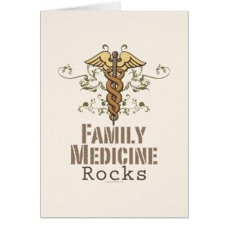 Family Medicine Rocks Greeting Card