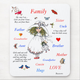 Family Members Mouse Pad