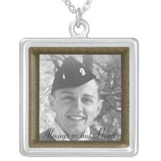 Family Memorial Photo Framed Necklace
