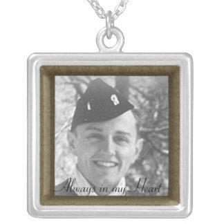 Family Memorial Photo Framed Necklace