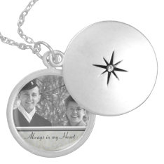 Family Memorial Photo Locket at Zazzle