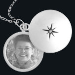 """Family Memorial Photo Locket<br><div class=""""desc"""">This silver plated photo locket is ready for you to insert your own photo and change the text. This beautiful necklace is perfect as a gift for friends and family, or buy one for yourself. The image and text is fully CUSTOMIZABLE. Click """"customize"""" to adjust photo size or text size....</div>"""