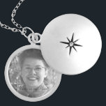 "Family Memorial Photo Locket<br><div class=""desc"">This silver plated photo locket is ready for you to insert your own photo and change the text. This beautiful necklace is perfect as a gift for friends and family, or buy one for yourself. The image and text is fully CUSTOMIZABLE. Click ""customize"" to adjust photo size or text size....</div>"