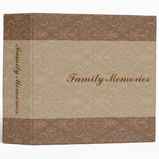 Family Memories Brown Damask Binder