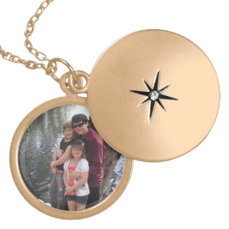 Family Memories Photo Locket Gold Necklace
