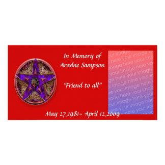 family memory card pagan photo card