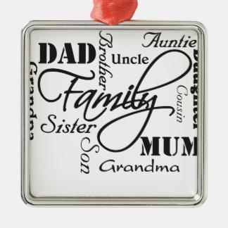 Family Metal Ornament