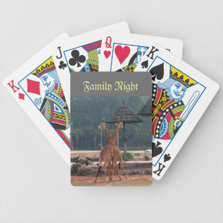 Family might, Two giraffes comforting each other Bicycle Playing Cards