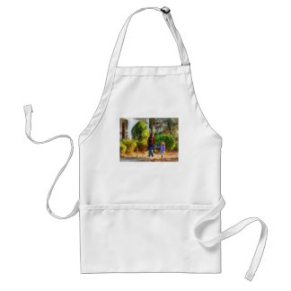 Family - Mother and Daughter Taking a Stroll Apron