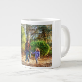 Family - Mother and Daughter Taking a Stroll Giant Coffee Mug