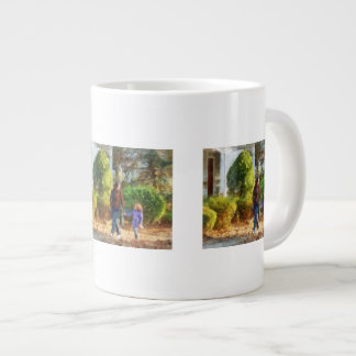 Family - Mother and Daughter Taking a Stroll Large Coffee Mug