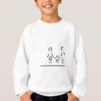 family mother father daughter sweatshirt