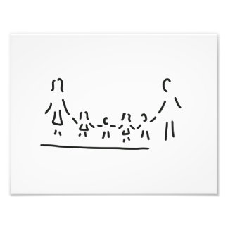 family mother father of four children photo print