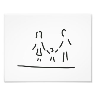 family mother father son photo print