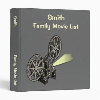 Family Movie List Organizer Vinyl Binder