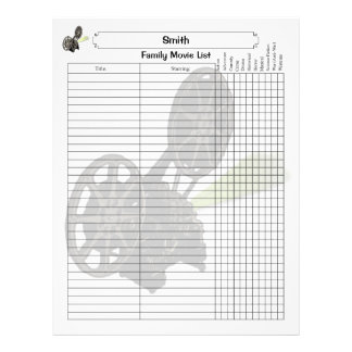 Family Movie List Page Letterhead