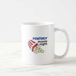 FAMILY MOVIE NIGHT BASIC WHITE MUG