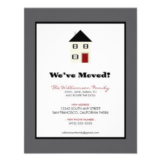 """Family Moving Announcement 4.25"""" x 5.5"""" :: slate"""