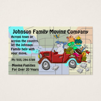Family Moving Company Business Card