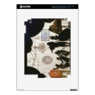 Family Musical Scene, silhouette (black paint on g iPad 3 Skin