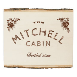 Family Name Cabin or Vacation Home Sign