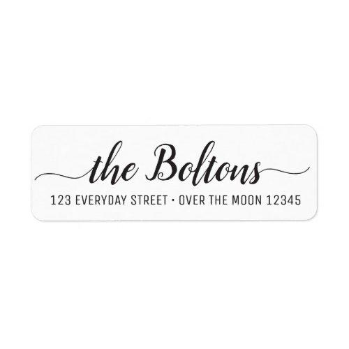 Family Name Custom Calligraphy Modern Font Elegant Label