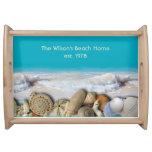 Family Name Est. Tropical Seashells Serving Tray