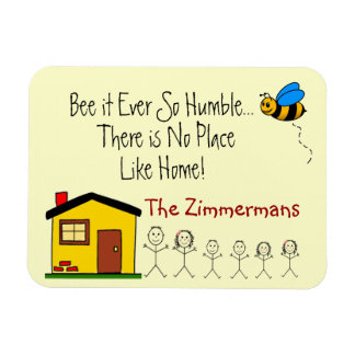 Family Name -No Place Like Home Magnet