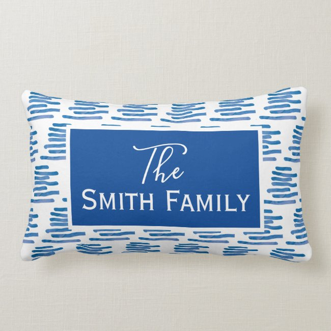 Family name - nursery decor lumbar pillow