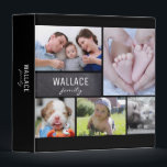 """Family Name, Photo Collage Album 3 Ring Binder<br><div class=""""desc"""">Choose your favourite photographs to grace the cover of this binder. Use it as an album or a keepsake for special notes and cards. Customize the photos, last name and text on the back side. *Please don&#39;t hesitate to contact me if you need any assistance with my designs. It&#39;s easy...</div>"""