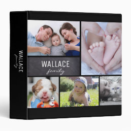 Family Name, Photo Collage Album 3 Ring Binder