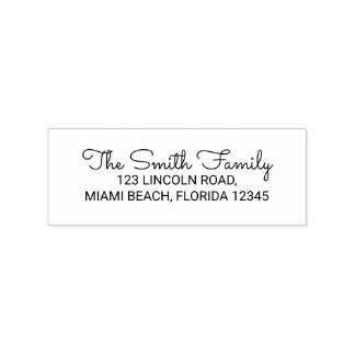 Family Name Return Address Rubber Stamp