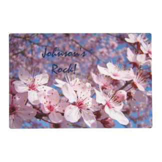 Family Name Rocks! placemats Good Morning Blossoms