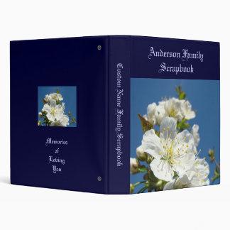 Family Name Scrapbook Blue Sky Cherry Blossoms Binder